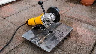 Homemade mini angle grinder stand and metal chop saw 3 in 1