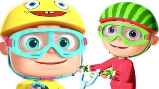 Five Little Babies Cycling On The Street And More | Five Little Babies Collection | 3D Rhymes