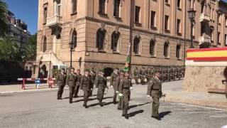 Jura de Bandera.  Hoy en el Cuartel del Bruch. Barcelona.  España.