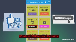 Make Money Using MoneyStorm Android Apps    Payment 100%