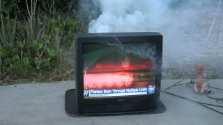 End of the Line for a Sanyo CRT TV July 4 w/ Shango066 (HD)