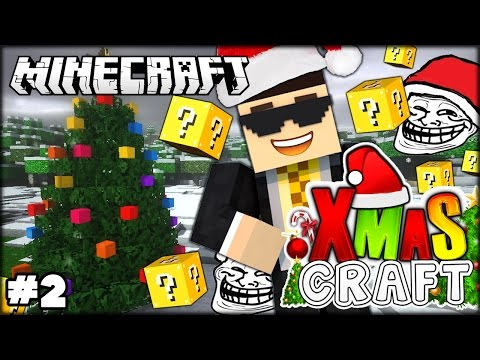 MINECRAFT CHRISTMAS 2 WARNING LUCKY BLOCK & SNOWSTORM IS COMING Minecraft Modded SMP