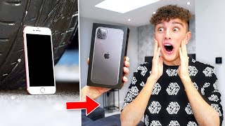 Crushing Morgz iPhone 7, Then Surprising Him With iPhone 11