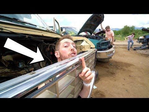 HIDE N SEEK IN A JUNKYARD DESTROYED CARS