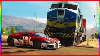 Forza Horizon 3 - Bugatti vs Train 4K