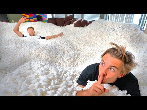 HIDE AND SEEK IN 10 000 000 PACKING PEANUTS impossible to find
