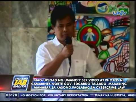 Xxx Mp4 Nag Upload Ng Umano'y Sex Video At Photos Ni Gov Tallado Maaring Makasuhan Sa Cybercrime Law 3gp Sex