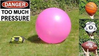 EXPLODING - Football, Basketball,  Soccer ball, Yoga ball & Space hopper