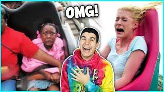 Funniest Rollercoaster Freakouts!