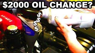 The Mythical Ferrari Oil Change
