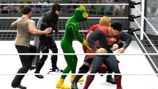 WWE 13 | Rick Grimes vs Kick-Ass vs Superman vs Batman vs Thor vs Iron Man