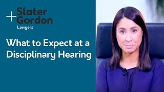 What to Expect at a Disciplinary Hearing