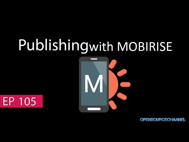 How to publish your website with Mobirise