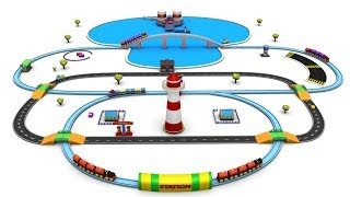 Train Cartoon - Car Cartoon - Cartoon Train Videos for Children - Chu Chu Cartoon - Toy Factory