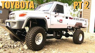 RC ADVENTURES - TOYBOTA PROJECT - PT 2 - BBC TOP GEAR TRiBUTE BUiLD - TOYOTA TRUCK-BOAT!