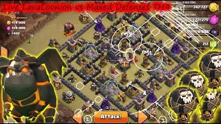 Live Attack, LavaLoonion vs Maxed Defenses TH9 | Lava Hound Strategy | Clan Wars | Clash Of Clans HD