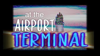 at the airport terminal