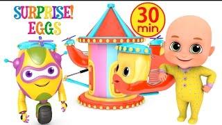 Kids Toys -  Ride at Amusement park    Surprise Eggs unboxing Toys for Kids