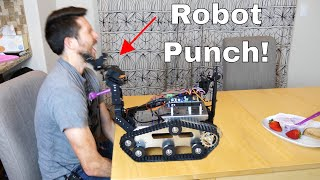 Trying to Feed Myself With a Homemade Robot