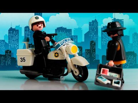 PlayMobil Moto da Policia e Ladrão da Playmobil Clube kids For Kids