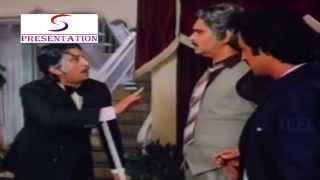 Raza Murad & Gulshan Insulting Shakti Kapoor @ Halaal Ki kamai - Govinda, Farha Naaz, Shakti Kapoor