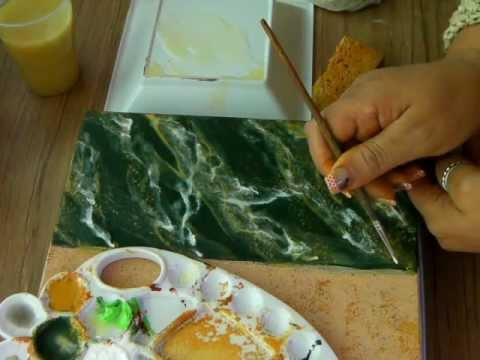 IMITACION DE MARMOL VERDE 1 IMITATION GREEN MARBLE