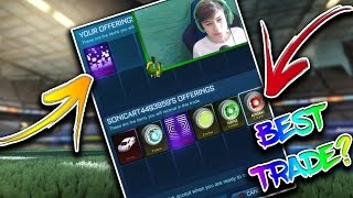 BEST TRADE EVER | SO MUCH PROFIT | BEST TRADE IN ROCKET LEAGUE! (2017)(NOOB ALERT)