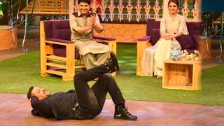 Pics Of Salman Khan promoting SULTAN On The Kapil Sharma Show With Anushka Sharma