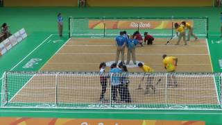 2016 Paralympic Games Goalball Turkey v China 2nd Half