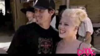 P!nk and Carey Hart in Making of Trouble