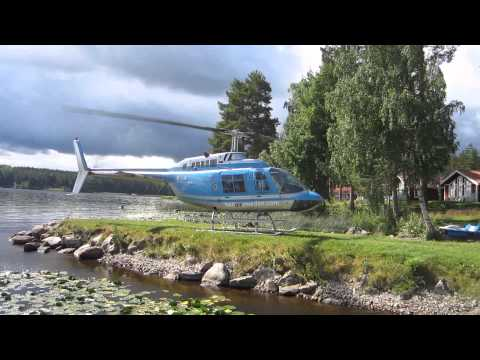 Bell 206 Jet Ranger start up and take off.