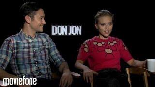 'Don Jon' Joseph Gordon-Levitt & Scarlett Johansson Answer Fan Questions | Moviefone