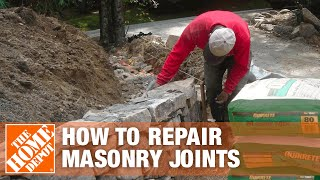 How to Repair Masonry Joints With Sakrete S-Type Masonry Mortar - The Home Depot