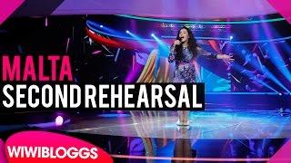 Second rehearsal: Christina Magrin (Malta) Junior Eurovision 2016