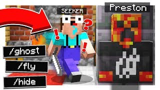 TROLLING YOUTUBERS with ADMIN COMMANDS! - HIDE & SEEK! - Minecraft Mods