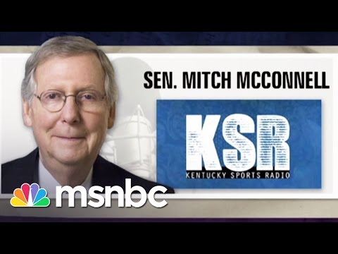 Mitch McConnell s Angry Radio Interview Morning Joe MSNBC
