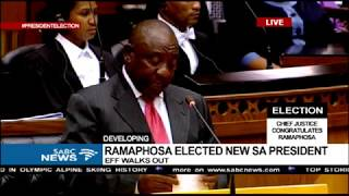 Newly elected President Cyril Ramaphosa