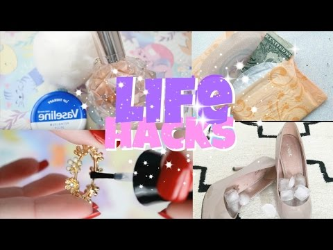 8 CRAZY LIFE HACKS every girl should know