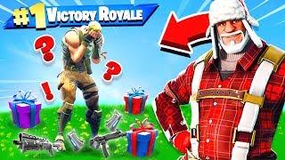 Santa GIFTING Challenge *NEW* Game Mode in Fortnite Battle Royale