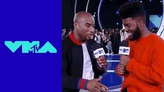 Khalid Talks w/ Charlamagne Tha God on the VMA Red Carpet | 2017 VMA Pre-Show MTV