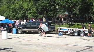 Carry medley. 275 keg, 275 sandbag, and 200 water barrel