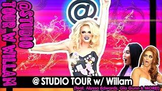 @ STUDIO TOUR w/ Willam (SUBSCRIBE!)