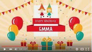 Happy Birthday Emma, full HD 1080p