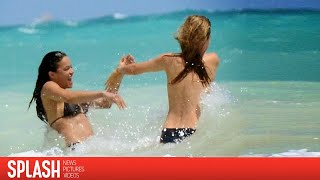 Fashion Model Cara Delevingne and Actress Michelle Rodriguez's Romantic Day in Mexico | Splash News