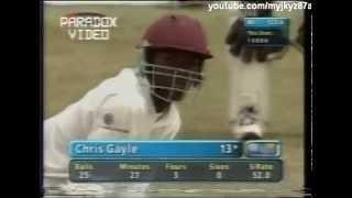 Young Chris Gayle clueless Vs Wasim Akram (Full Over) *Rare*