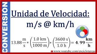 Conversión de m/s a km/h (método fácil)