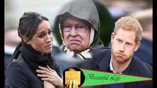 Meghan Markle collapses when Prince Harry demands divorce because the queen suspects her affair