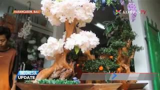 Kreasi Unik Kerajinan Bunga Hias dari Limbah Kayu