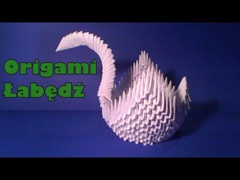 Origami Łabędź