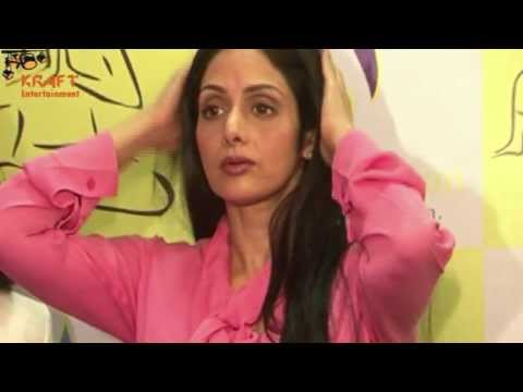 Hot Sridevi in Loose Busty Pink Top